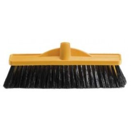 B-12130 OATES 350MM WORKSHOP MED STIFF POLY BROOM HEAD ONLY