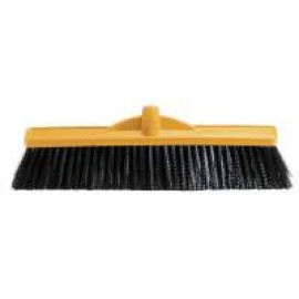 B-12131 OATES 450MM WORKSHOP MED STIFF POLY BROOM  HEAD ONLY