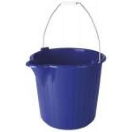BUCKPF324 PLASTIC 9LT BUCKET WIRE HANDLE