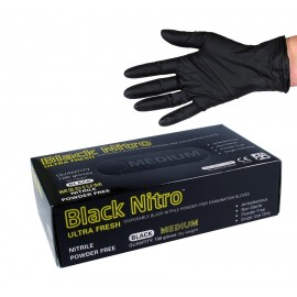 468460 ULTRA FRESH BLACK NITRO NITRILE GLOVES BOX 100