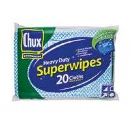 09887 CHUX HEAVY DUTY SUPERWIPES CLOTH PK 20