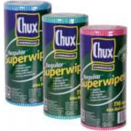 9316 CHUX REGULAR SUPERWIPES CLOTH ROLL 65MT RED ONLY
