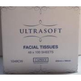 1048CW ULTRASOFT 2PLY FACIAL TISSUE 48PKS X 100SHEET