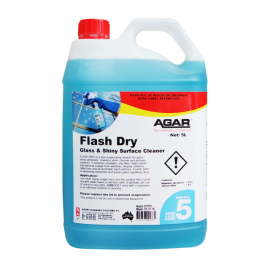 FLD5 AGAR FLASH DRY - WINDOW AND GLASS CLEANER 5LT