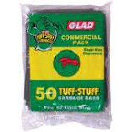 GBHD50/4 GLAD TUFF STUFF GREEN 55LT GARBAGE BAG CTN 200
