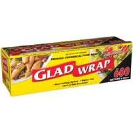 WC600/6N GLAD WRAP ROLL 600MT X 33CM