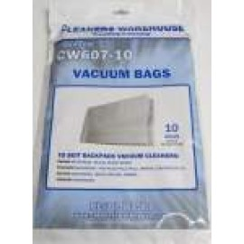 CW607-10 CLEANERS WAREHOUSE ORIGIN VACUUM BAGS PK 10