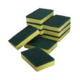 SC-110C OATES SPONGE SCOURERS GREEN / YELLOW CTN 60