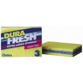 SP-063 OATES DURAFRESH EXTRA LARGE SPONGES PK3