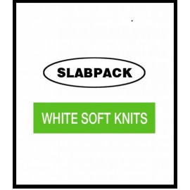WSK/SLAB RAGS SLABPACK WHITE SOFT KNITS 15KG