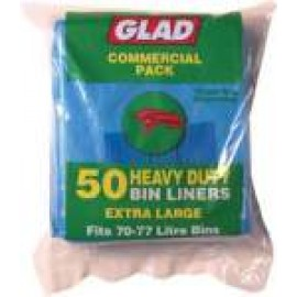 XLGP50/10 GLAD BLUE GARBAGE BAG 70-75LT CTN 500