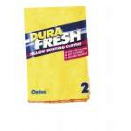 YC-052 YELLOW DUSTING CLOTHS PK2